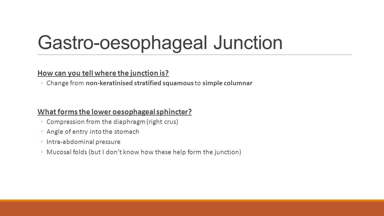 Gastro-oesophageal Junction