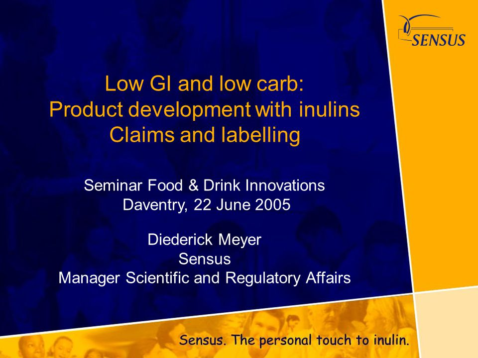 Low GI and low carb: Product development with inulins Claims and labelling