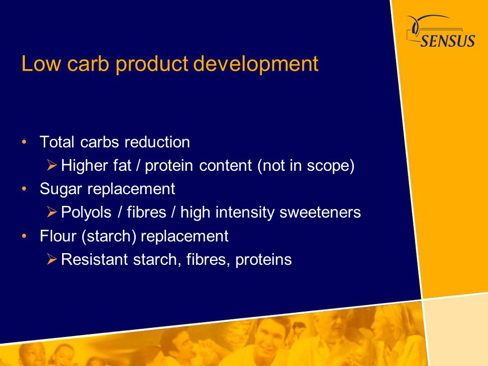 Low carb product development