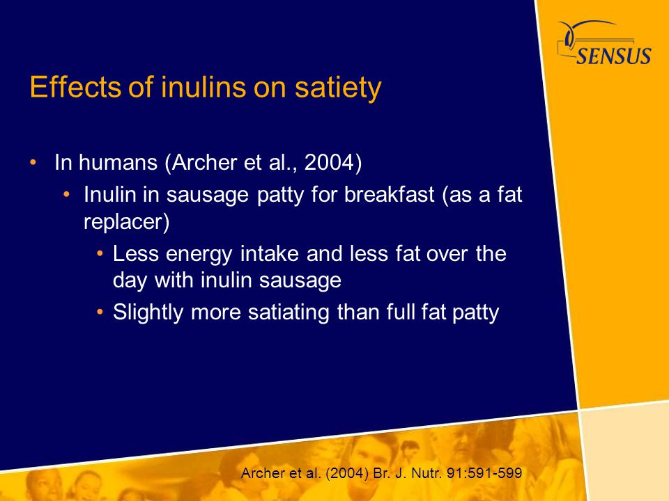 Effects of inulins on satiety