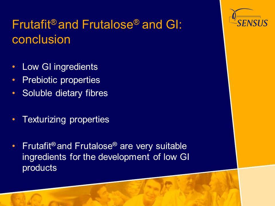 Frutafit® and Frutalose® and GI: conclusion