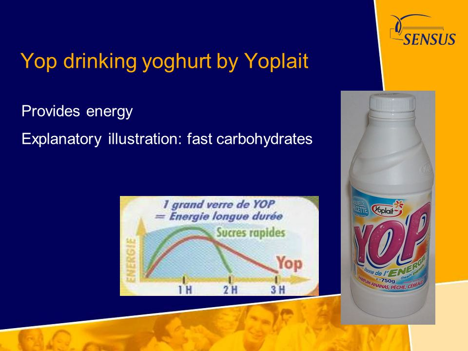 Yop drinking yoghurt by Yoplait
