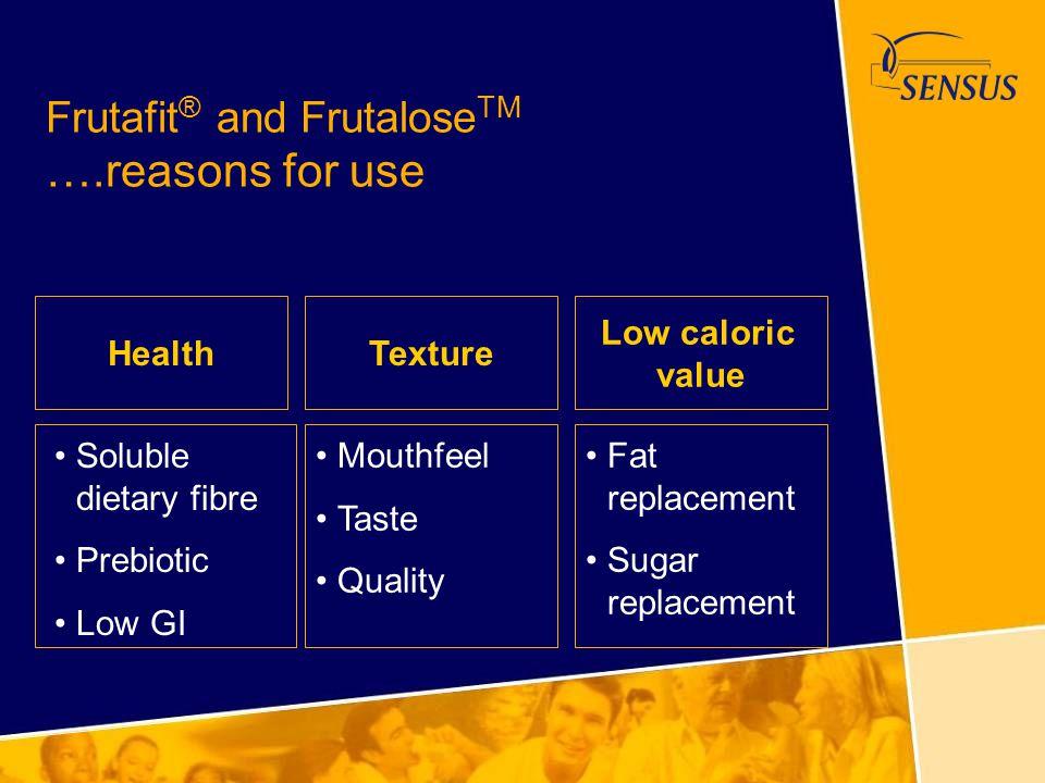 Frutafit® and FrutaloseTM ….reasons for use