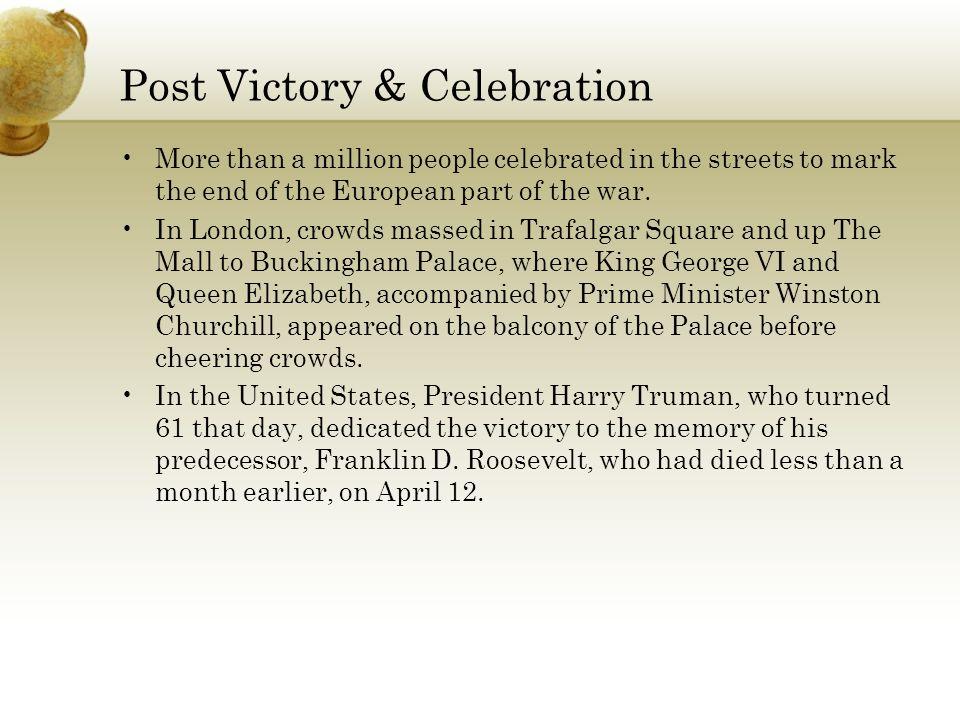 Post Victory & Celebration