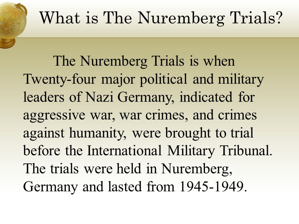 What is The Nuremberg Trials