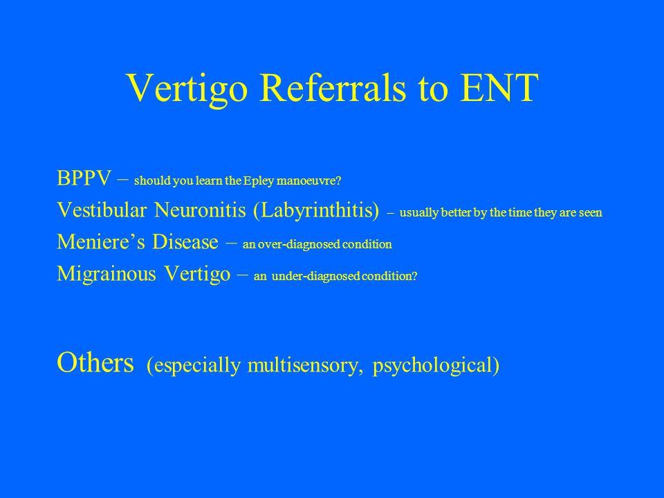 Vertigo Referrals to ENT