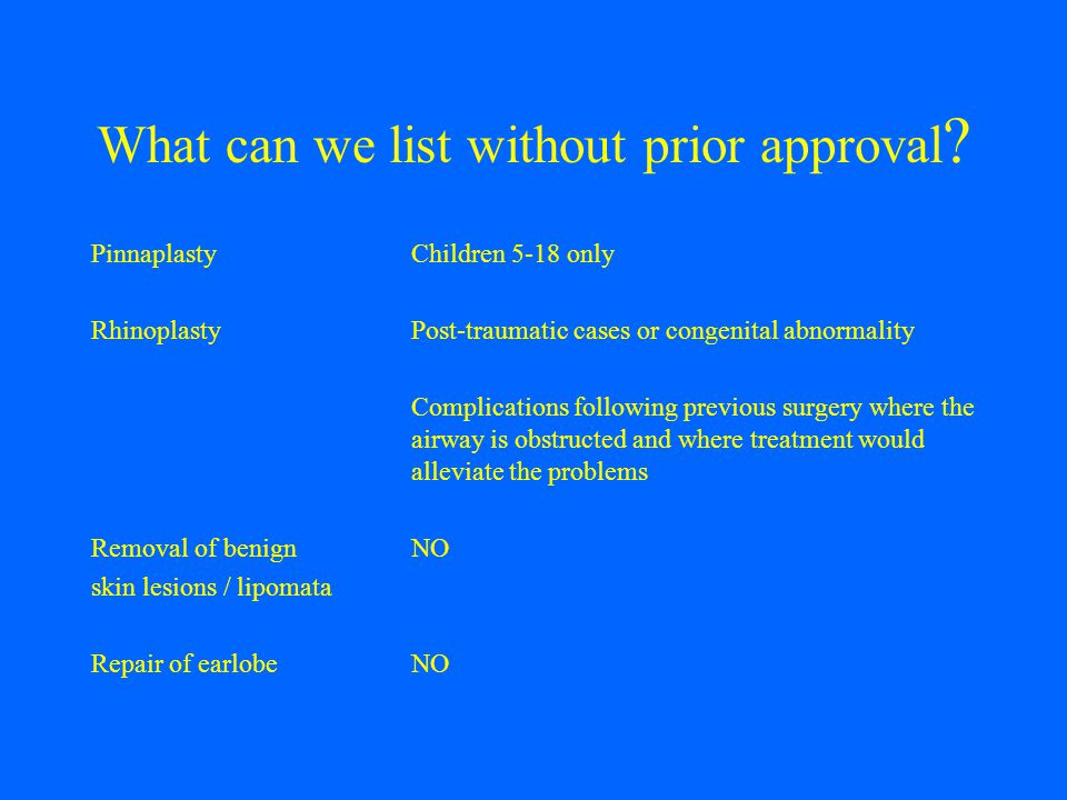 What can we list without prior approval