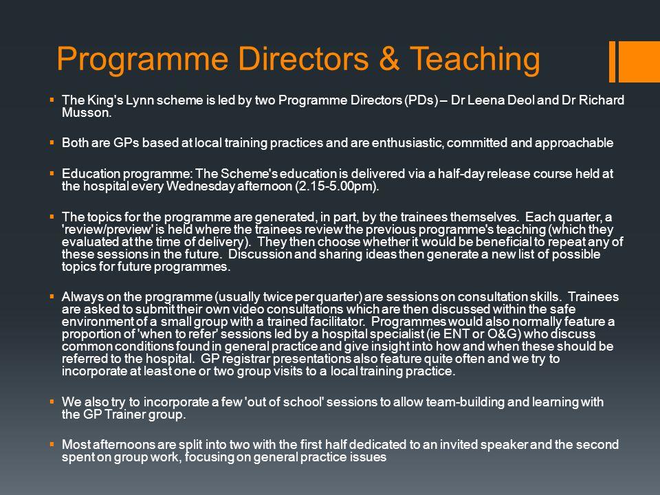 Programme Directors & Teaching