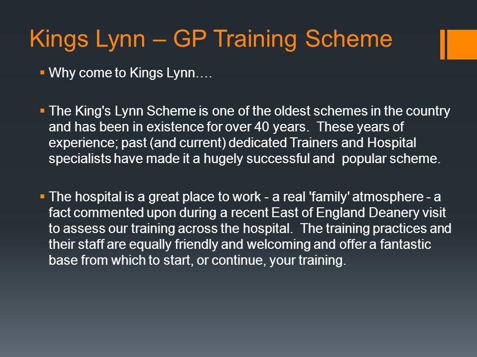 Kings Lynn – GP Training Scheme