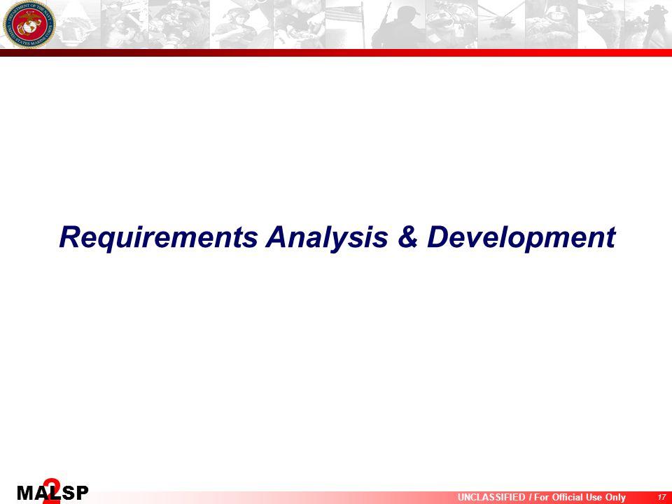 Requirements Analysis & Development