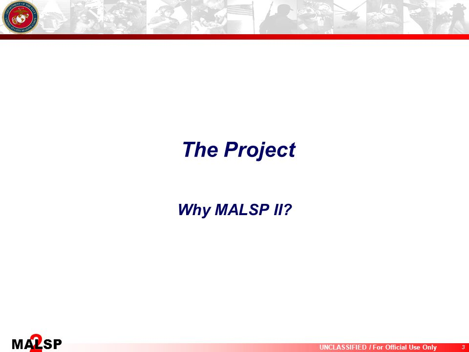 The Project Why MALSP II