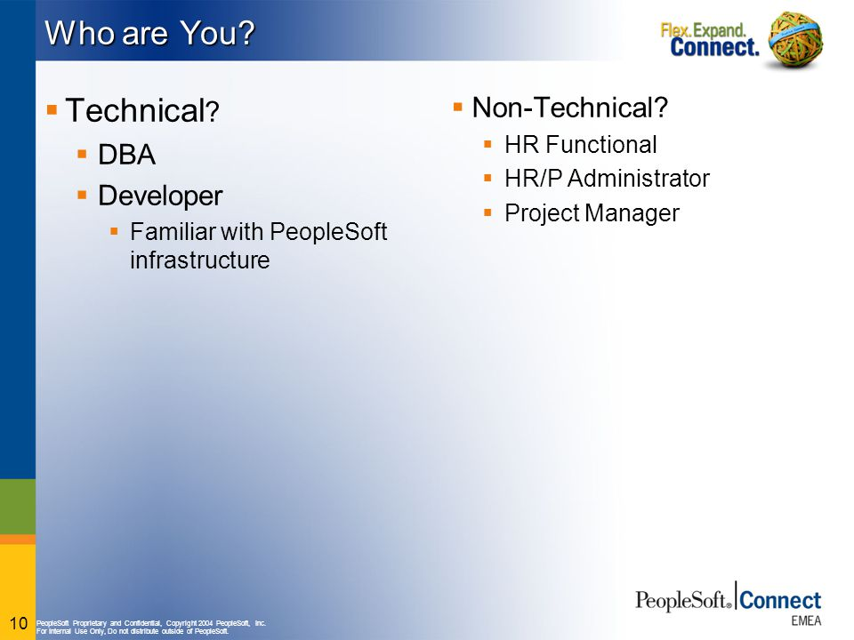 Who are You Technical Non-Technical DBA Developer HR Functional