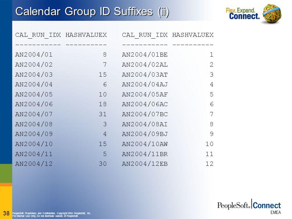 Calendar Group ID Suffixes (ii)