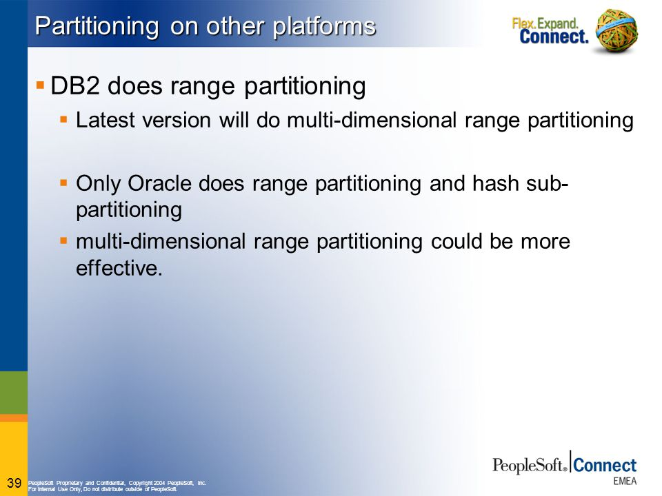 Partitioning on other platforms