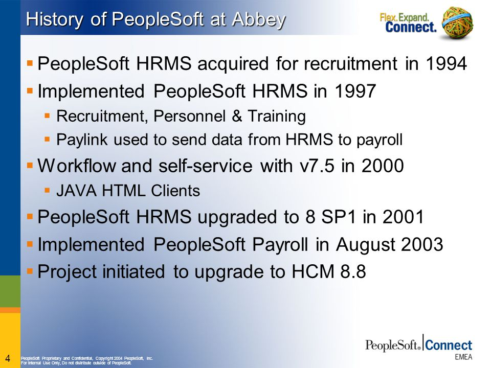 History of PeopleSoft at Abbey
