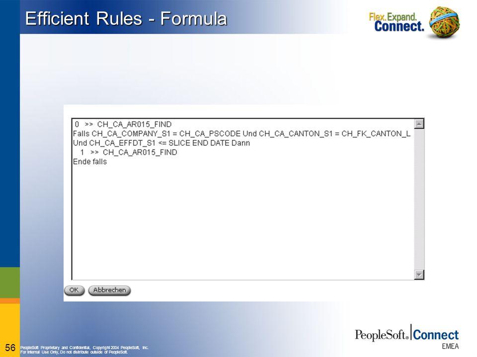 Efficient Rules - Formula