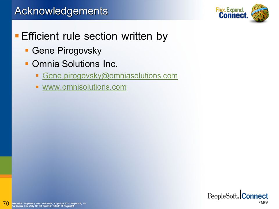 Efficient rule section written by