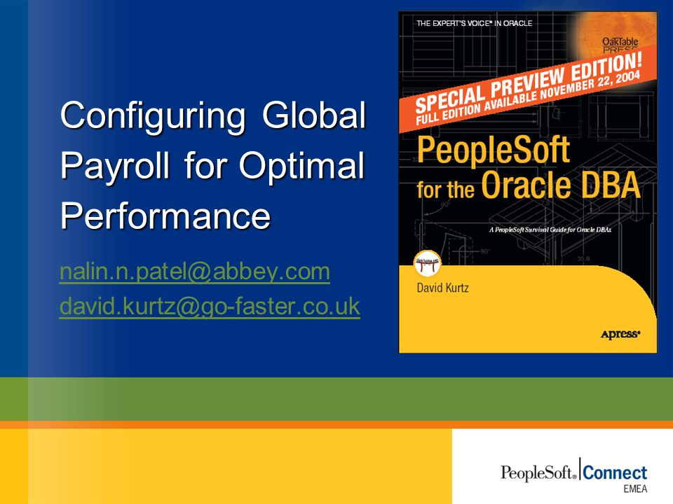 Configuring Global Payroll for Optimal Performance