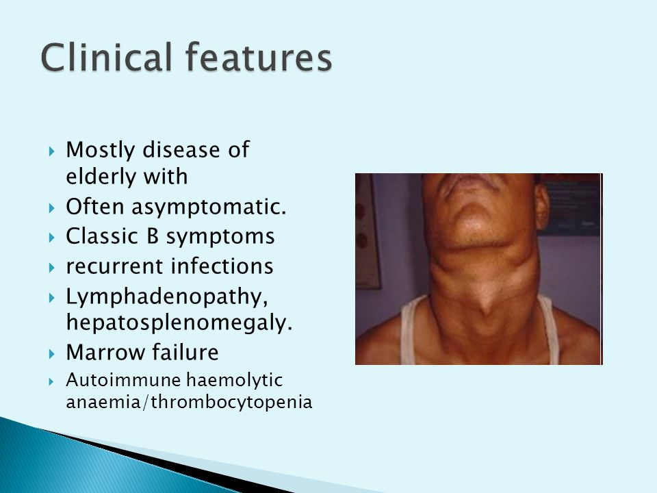 Clinical features Mostly disease of elderly with Often asymptomatic.