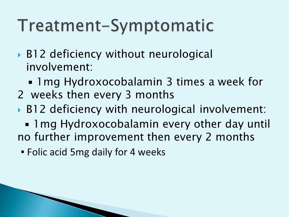 Treatment-Symptomatic