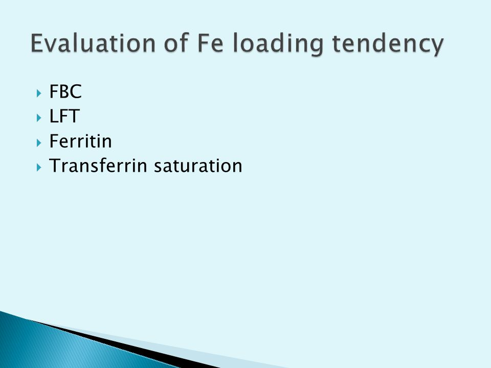 Evaluation of Fe loading tendency