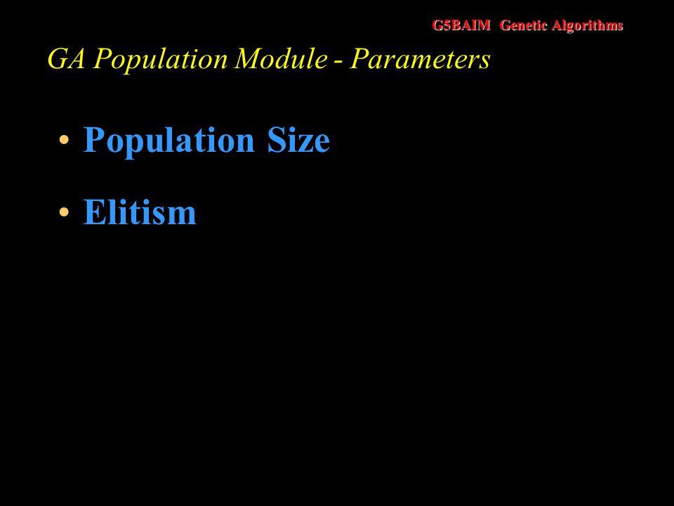 GA Population Module - Parameters