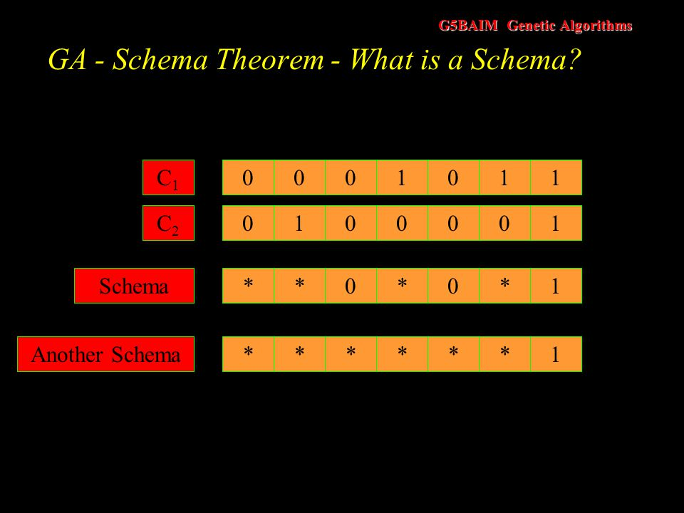 GA - Schema Theorem - What is a Schema