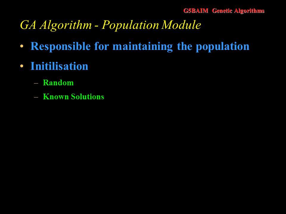 GA Algorithm - Population Module