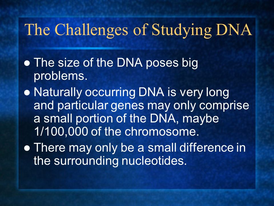 The Challenges of Studying DNA