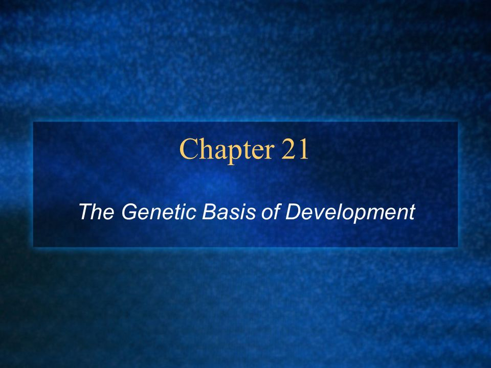 The Genetic Basis of Development
