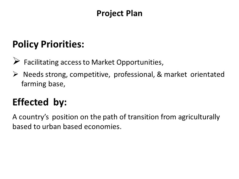 Facilitating access to Market Opportunities,