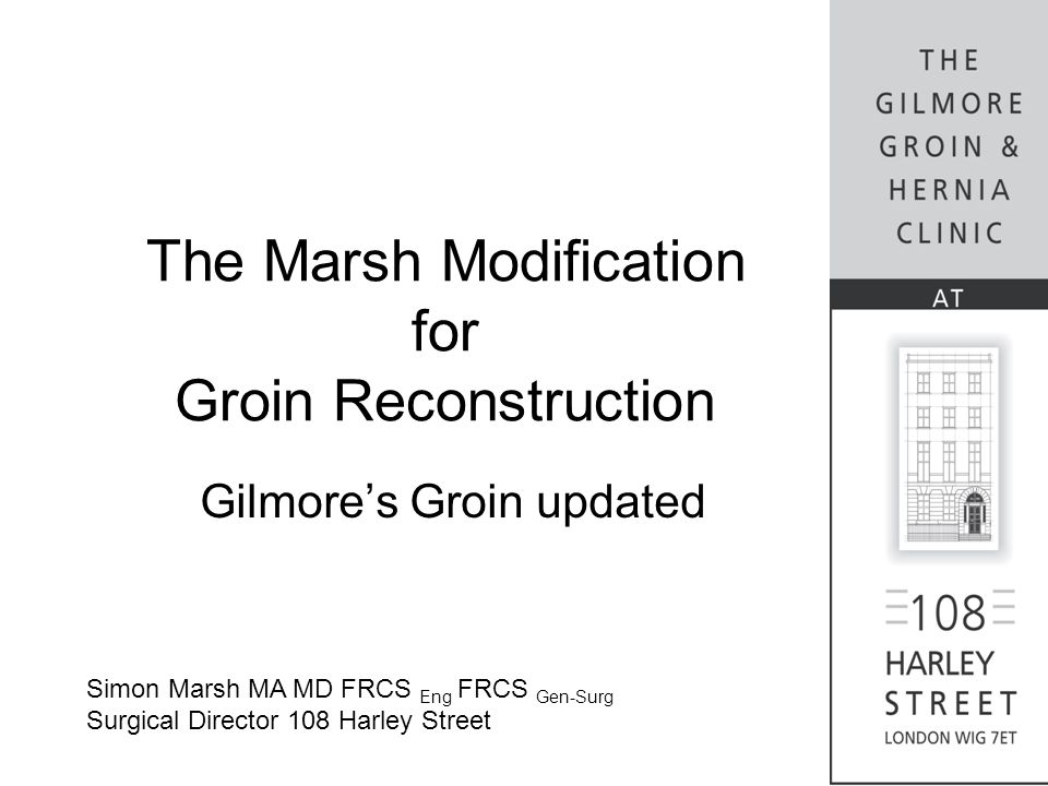 The Marsh Modification for Groin Reconstruction