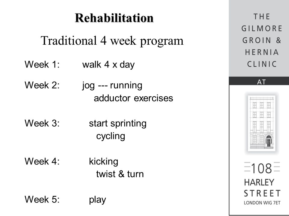 Traditional 4 week program