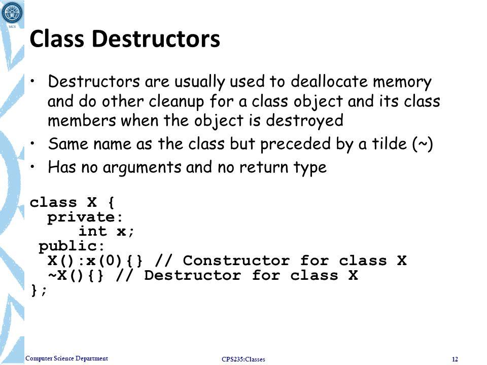 Class Destructors