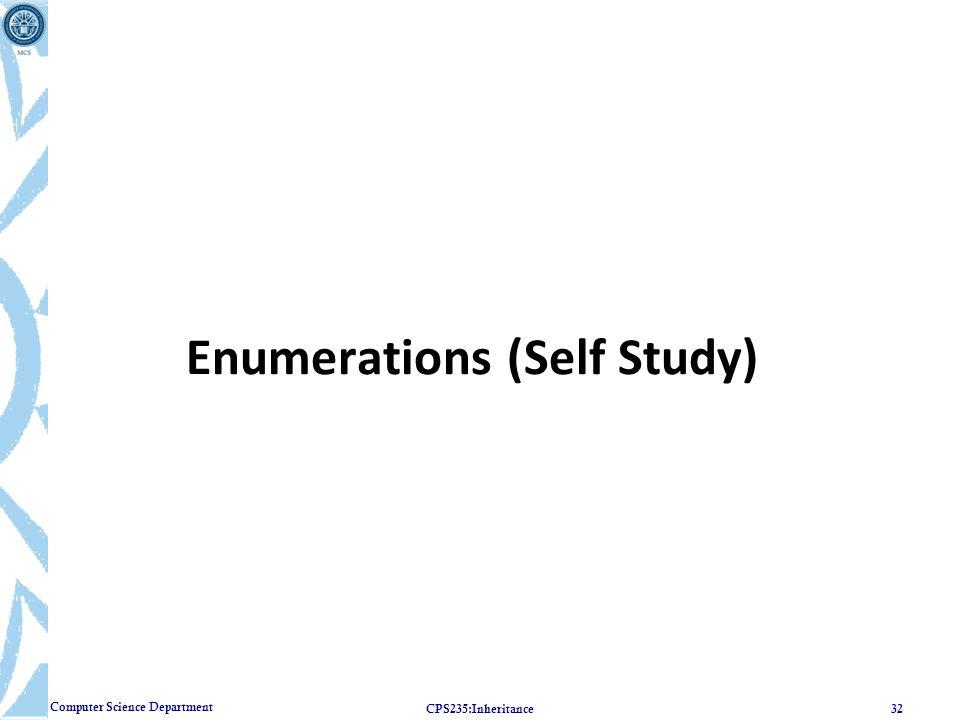 Enumerations (Self Study)