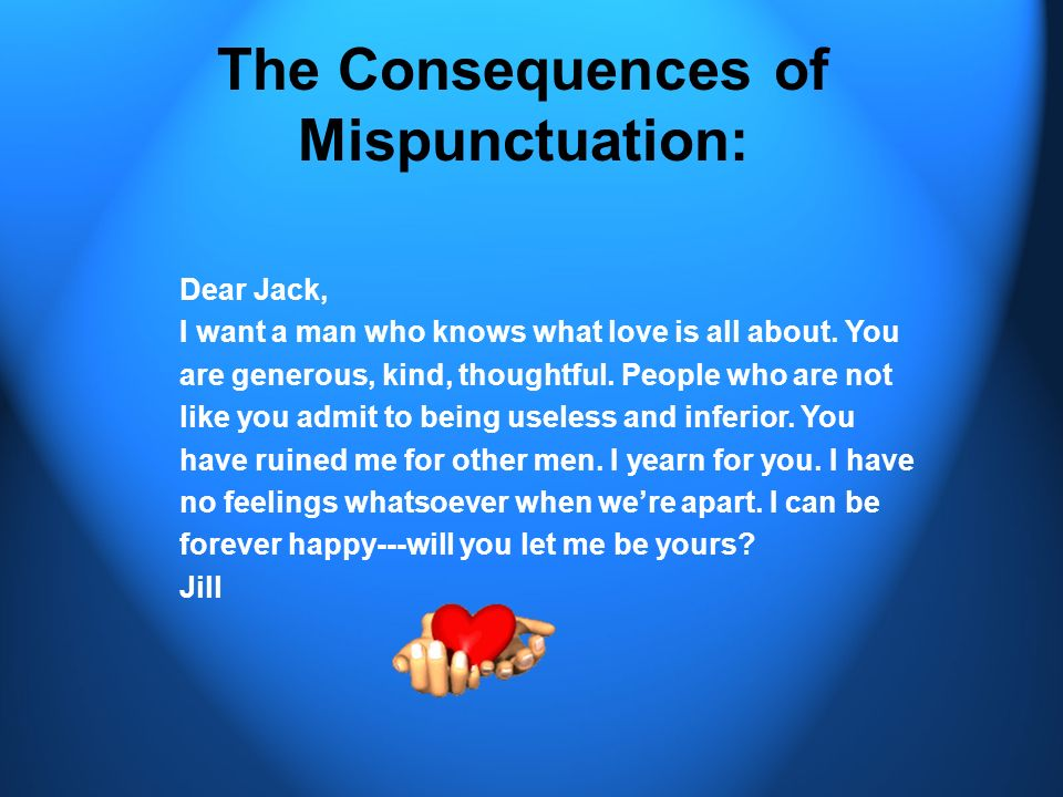 The Consequences of Mispunctuation: