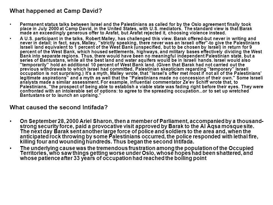 What happened at Camp David