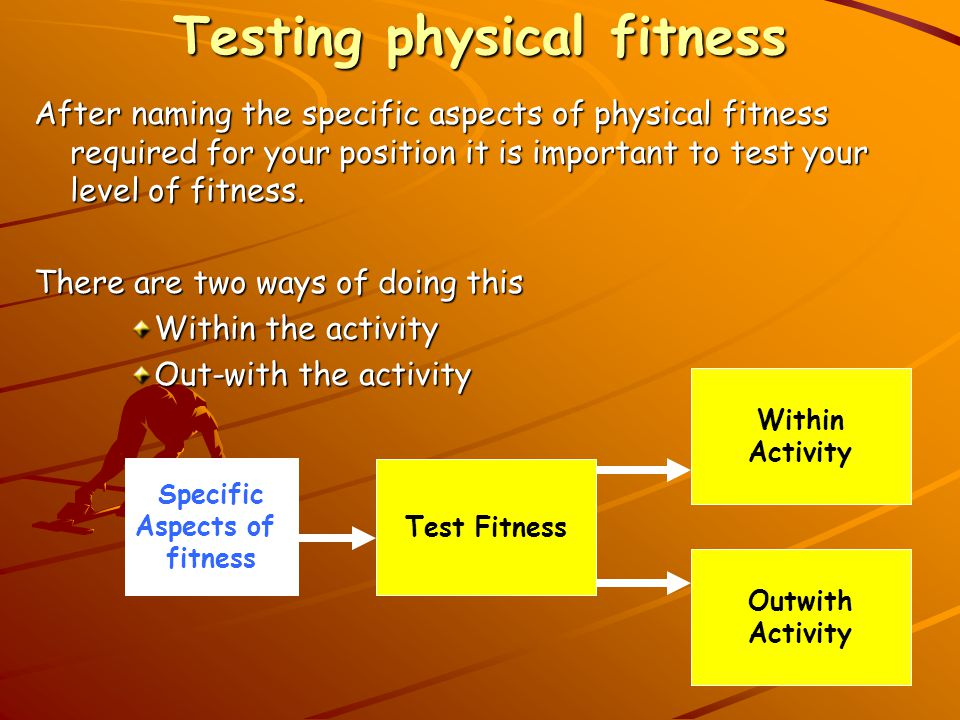 Testing physical fitness