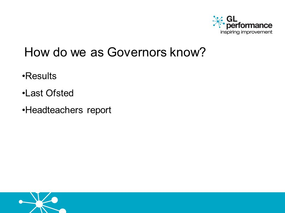 How do we as Governors know