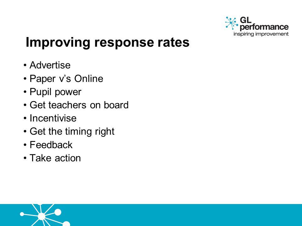 Improving response rates