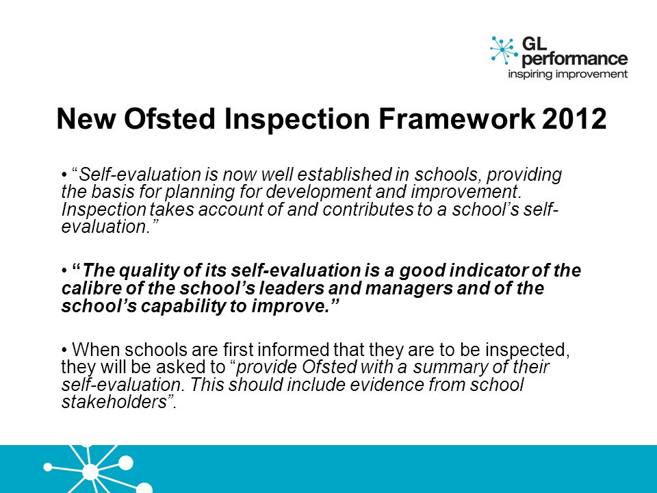 New Ofsted Inspection Framework 2012
