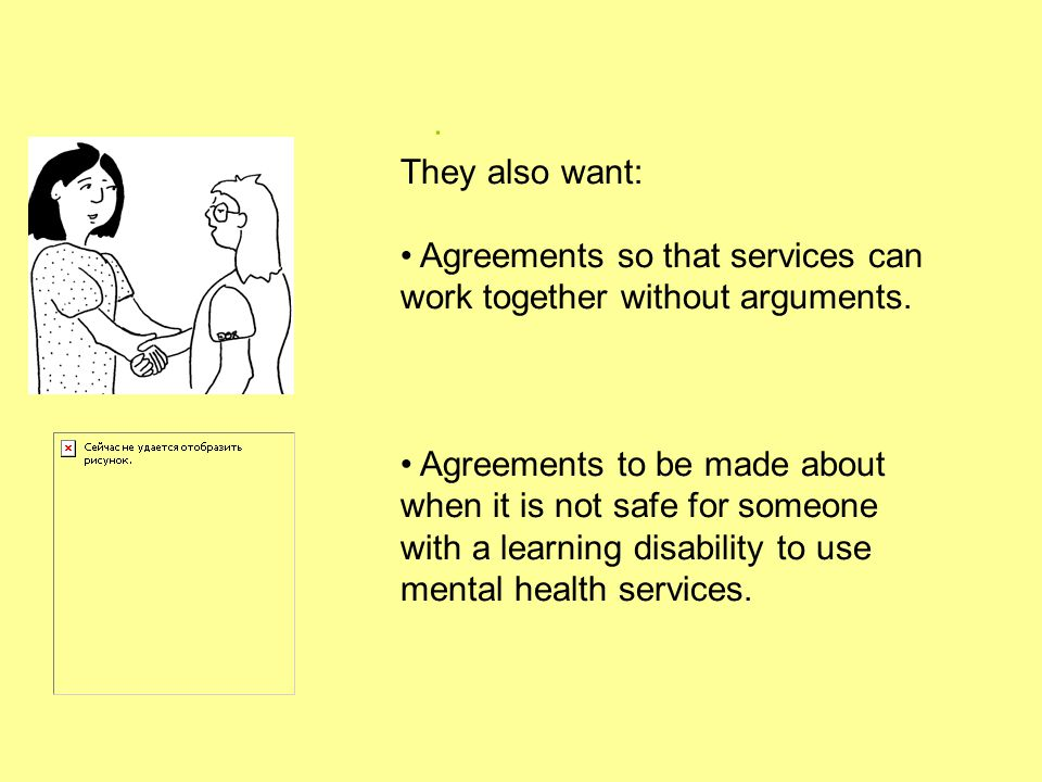 . They also want: Agreements so that services can work together without arguments.