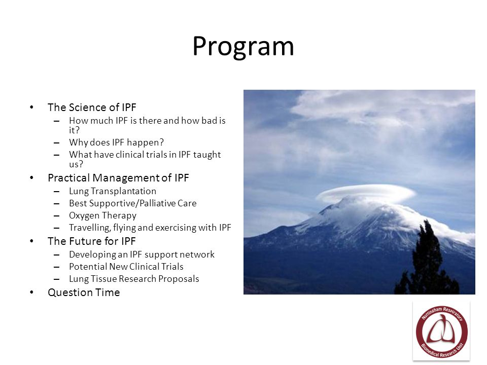 Program The Science of IPF Practical Management of IPF