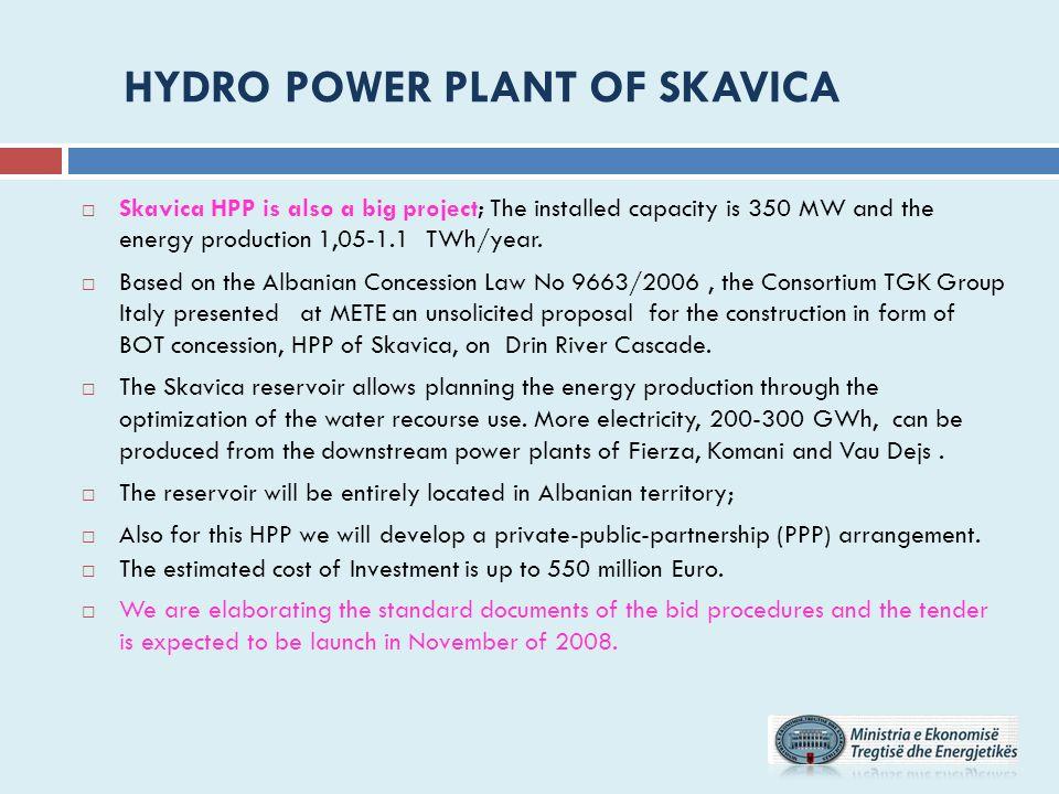 HYDRO POWER PLANT OF SKAVICA