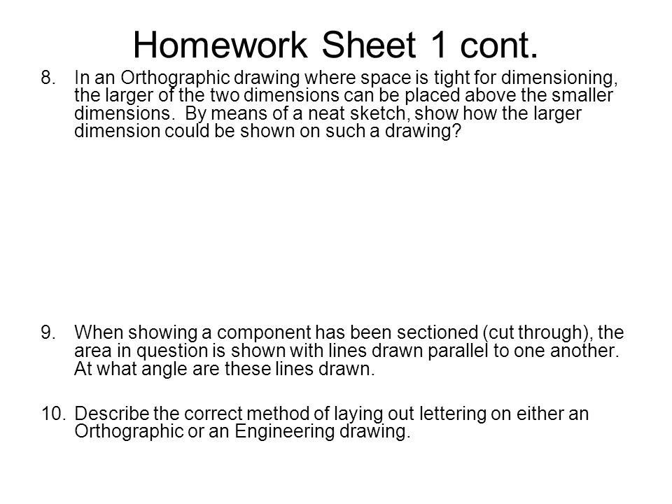 Homework Sheet 1 cont.