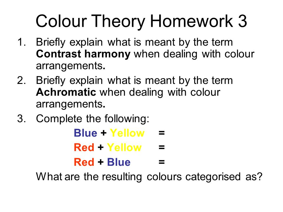 Colour Theory Homework 3