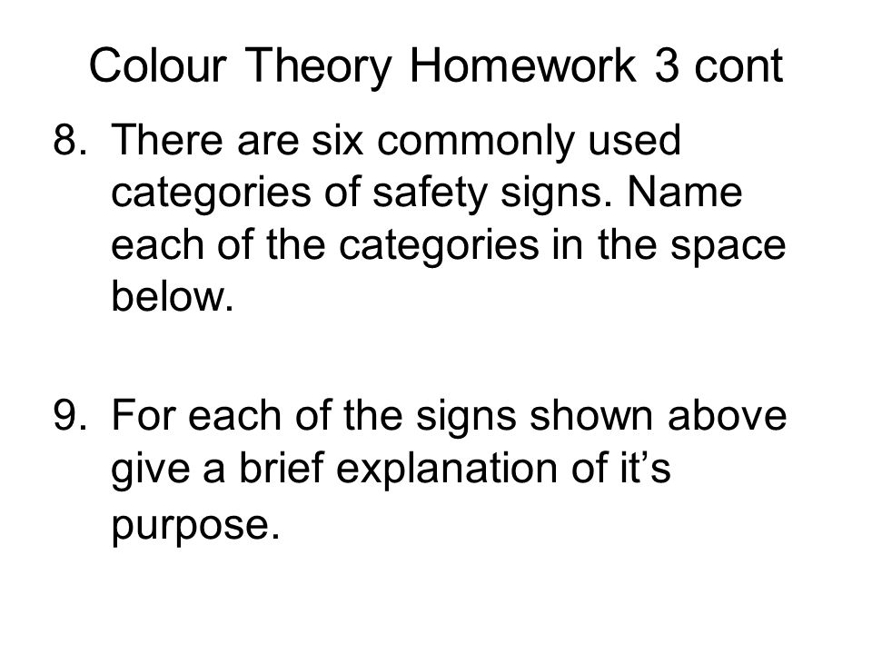 Colour Theory Homework 3 cont