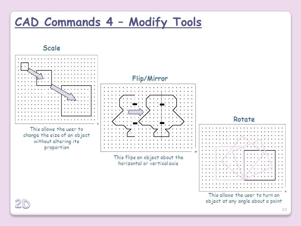 CAD Commands 4 – Modify Tools