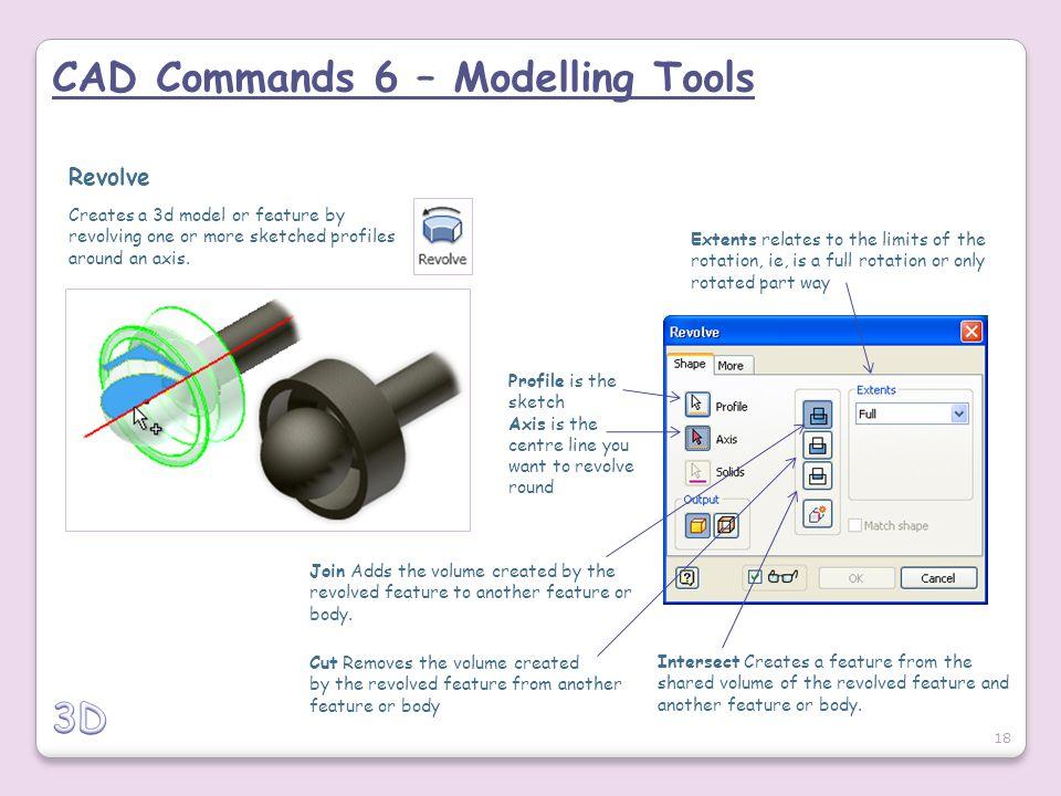 CAD Commands 6 – Modelling Tools