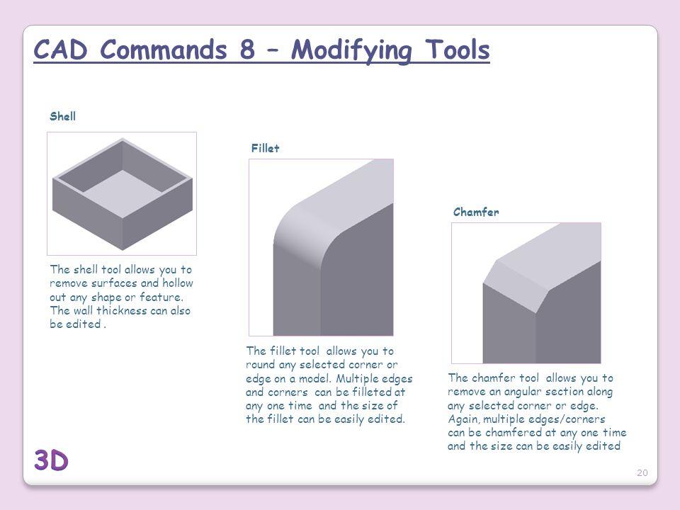 CAD Commands 8 – Modifying Tools